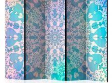 Paraván - Girly Mandala (Blue) II [Room Dividers]